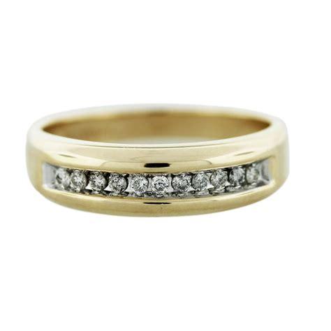 gold mens wedding band ring
