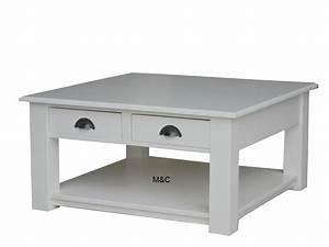 Table En Bois Carré : table basse carre bois ~ Teatrodelosmanantiales.com Idées de Décoration