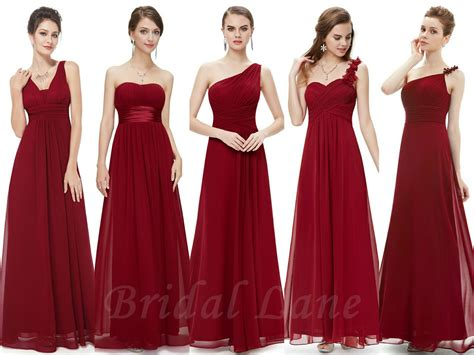 Burgundy Wine Red Bridesmaid Dresses Bridal Lane Cape