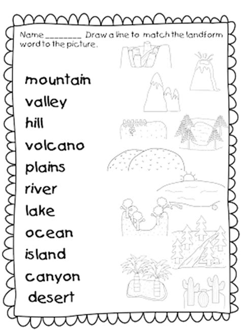 21 landforms for kids activities and lesson plans school