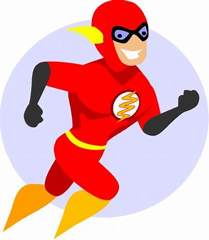 Flash Superhero Cartoon Clip Clipart Character Vector