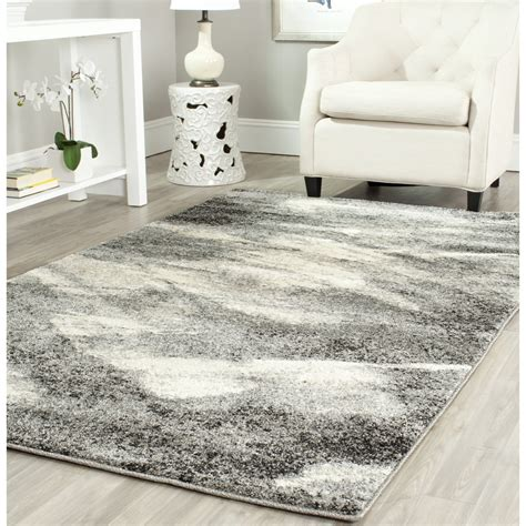 Safavieh Retro safavieh power loomed retro ivory grey area rugs