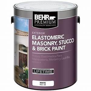 BEHR Premium 1 gal. Elastomeric Masonry, Stucco and Brick ...