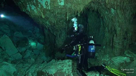 cave diving in kefalonia greece youtube