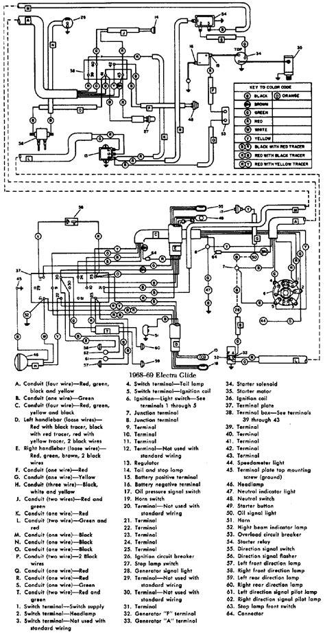 1966 - 1969 Harley FLH wiring diagram