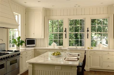 How To Add Beadboard To Cabinets : Beadboard Kitchen Island, Cottage, Kitchen, Litchfield