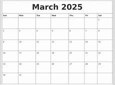 March 2025 Printable Daily Calendar