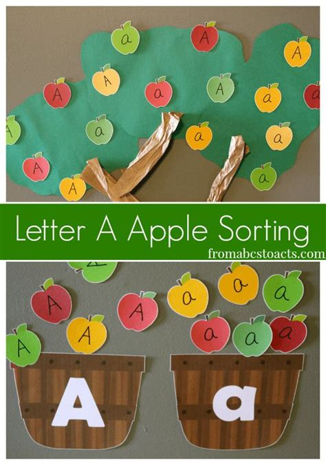letter a apple sorting for preschoolers and 315 | f0fd1002543aafed31b15b2e21f8908c