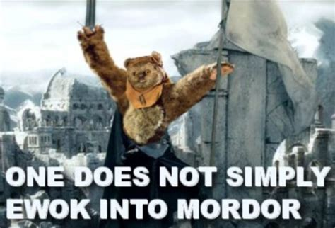 Ewok Meme - one does not simply walk into mordor messenger pigeon