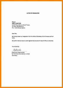 5  Short And Simple Resignation Letter Sample