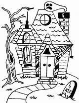 Haunted Coloring Halloween Pages Printables Outline Printable Drawing Cartoon Simple Scary Template Getdrawings Castle Getcolorings Colori Templates Getcoloringpages Comments sketch template