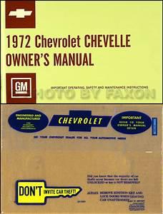 1972 Chevelle Wiring Diagram Manual Reprint Malibu  Ss  El Camino