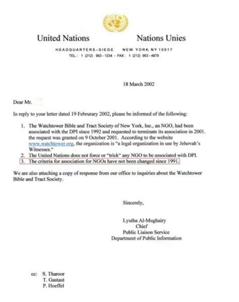 watchtower society united nations ngo status