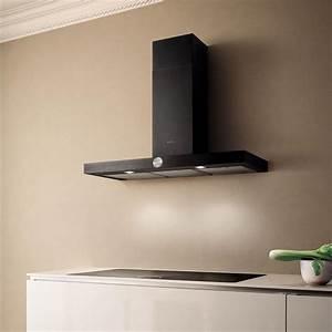 Hotte Noire 60 Cm : elica hotte de cuisine lol en inox et bandeau noir ~ Dailycaller-alerts.com Idées de Décoration