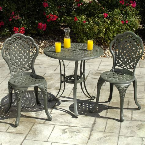 outdoor chair bistro table and two chairs set