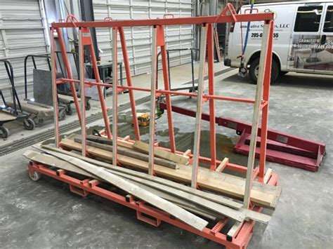 steel a frame granite transport rack
