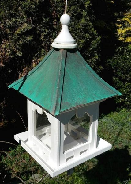 hanging copper roof bird feeder vinylpvc  lb hopper