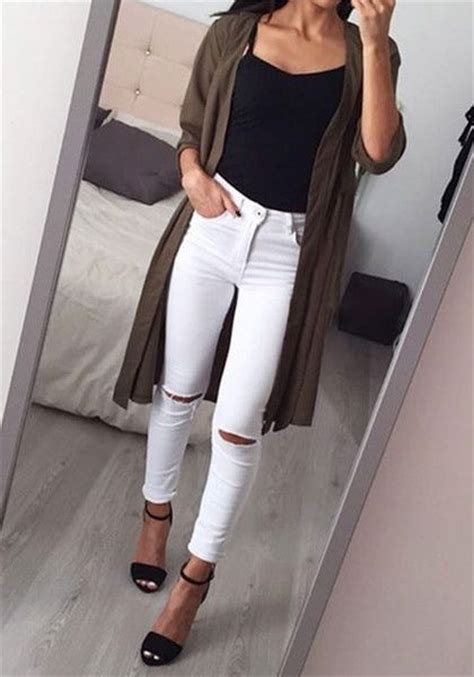 Best 25+ White jeans summer ideas on Pinterest   Summer jean outfits Summer pants outfits and ...
