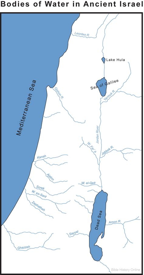 map  israels bodies  water bible history
