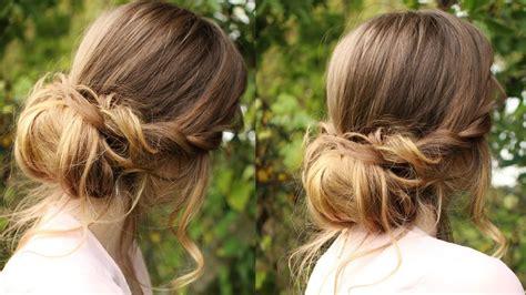 chignon hairstyle tutorial soft updo braidsandstyles