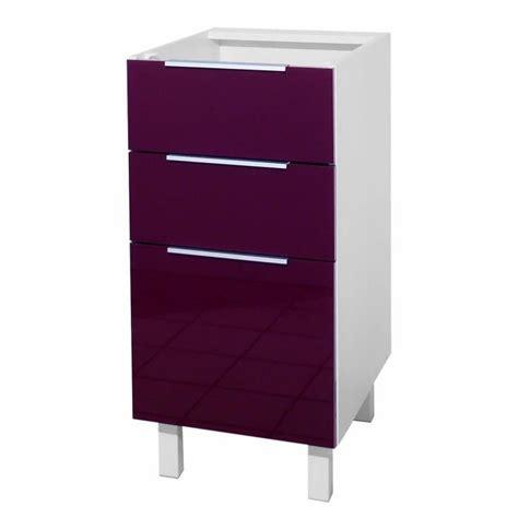 meuble bas cuisine 40 cm pop meuble bas de cuisine l 40 cm aubergine achat