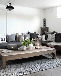 Salon Gris Blanc : d co salon idee deco salon exceptionnelle couleur peinture salon blanc canap gris tapi ~ Dallasstarsshop.com Idées de Décoration