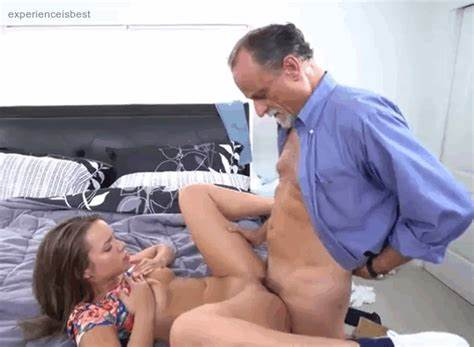 Junior Old Grandpa Gets Youthful Babysitter Fingering
