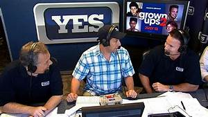 Adam Sandler visits the YES broadcast booth - YouTube