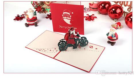 New 3D Pop Up Merry Chirstmas Greeting Card Christmas