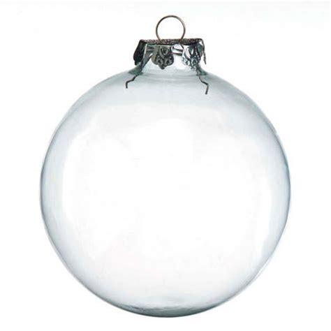 100mm clear glass ball christmas ornaments 2pc