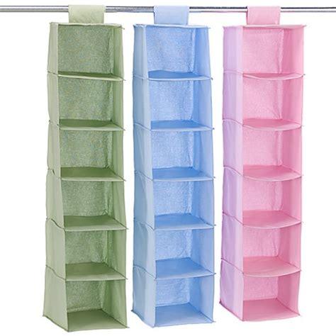 hanging closet shelves hanging 6 shelf closet organizer bed bath beyond