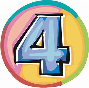 Free Number 4, Download Free Clip Art, Free Clip Art on ...
