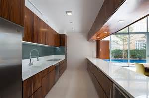 Modern Galley Kitchen Designs Photo