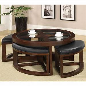 furniture of america gracie dark walnut 5 piece coffee With 5 piece coffee table set