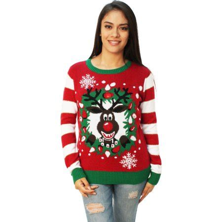 light up christmas sweaters sale ugly christmas sweater women 39 s rudolph led light up
