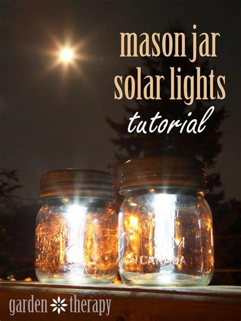 how to make outdoor solar lights mason jar solar lights