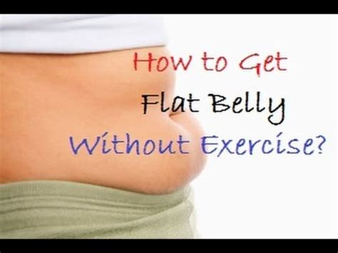 How To Get Flat Stomach Fast Without Exercise? Youtube