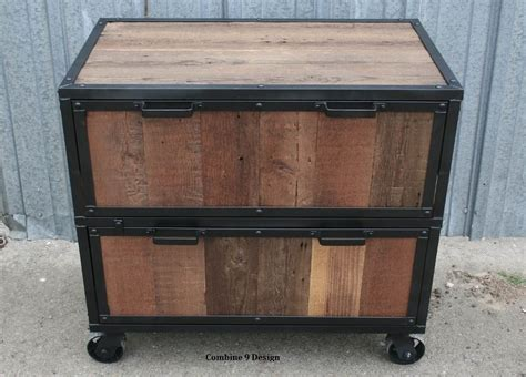 custom wood file cabinets buy a hand made vintage industrial file cabinet reclaimed