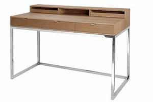 Sekretär Modern Design : sekret r eiche natur schreibtisch verchromt tisch modern ~ Watch28wear.com Haus und Dekorationen