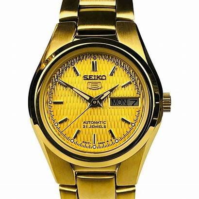 Seiko Gold Automatic Ladies Steel Stainless Pvd