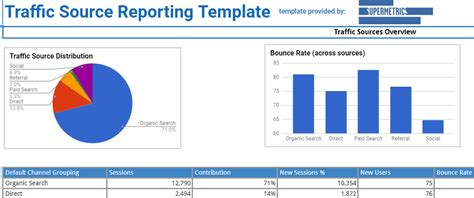 website traffic analysis reports templates web