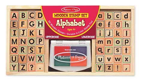 amazoncom melissa doug wooden alphabet stamp set
