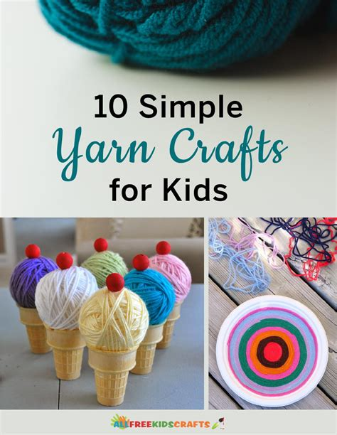 simple yarn crafts  kids allfreekidscraftscom