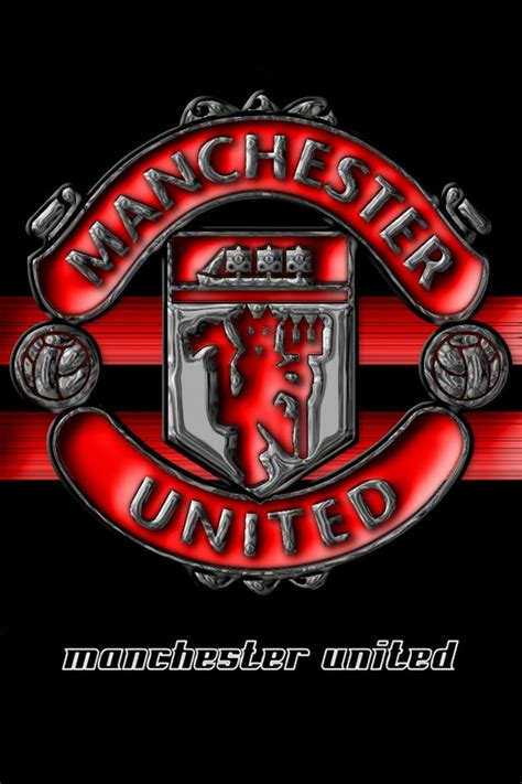 manchester united  red devil logo black  red