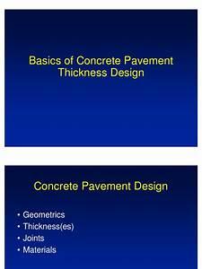 Design Fundamentals Of Pavement