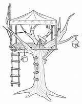 Coloring Treehouse Pages Tree Printable Colouring Magic Observer Adult Activities Outdoor Treehouses Drawing Sheets Activity Play Getcolorings Books Engraving sketch template
