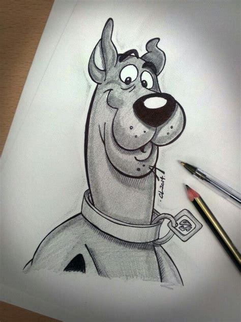 Pencil and Biro sketch of Scooby Doo #pencil #sketch #