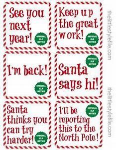 Naughty List Warning Notice from Santa — Free Printable
