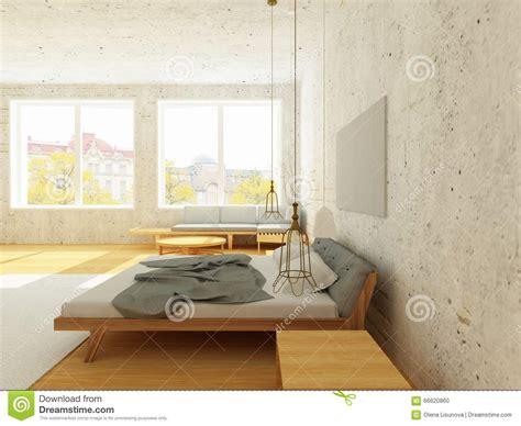 chambre style scandinave intérieur confortable de chambre à coucher dans le style