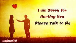 I Am Sorry My Love For Hurting You | www.pixshark.com ...